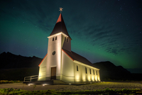 Vik´s church 11098076449| 写真素材・ストックフォト・画像・イラスト素材|アマナイメージズ