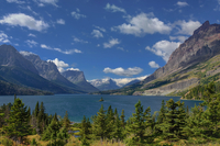 St Mary Lake, Wild Goose Island and a View to the West (HDR, Wide Angle) 11098076773| 写真素材・ストックフォト・画像・イラスト素材|アマナイメージズ
