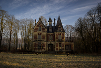 early morning at Chateau Sanglier 11098076927| 写真素材・ストックフォト・画像・イラスト素材|アマナイメージズ