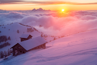 Rigi Sunset 11098077959| 写真素材・ストックフォト・画像・イラスト素材|アマナイメージズ