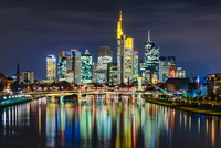Night In Frankfurt 11098078214| 写真素材・ストックフォト・画像・イラスト素材|アマナイメージズ