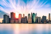 Financial District sunset 11098078348| 写真素材・ストックフォト・画像・イラスト素材|アマナイメージズ