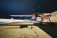 Airport in the night 11098078505| 写真素材・ストックフォト・画像・イラスト素材|アマナイメージズ