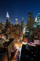 Midtown Manhattan by Night 11098078941  写真素材・ストックフォト・画像・イラスト素材 アマナイメージズ