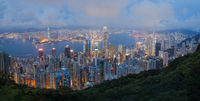 a view of a city skyline with a mountain in the background 11098080040| 写真素材・ストックフォト・画像・イラスト素材|アマナイメージズ