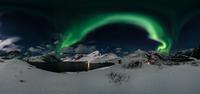 Aurora at Solbjornvatnet 11098080500| 写真素材・ストックフォト・画像・イラスト素材|アマナイメージズ