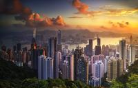 Sunrise over Hong kong 11098080744| 写真素材・ストックフォト・画像・イラスト素材|アマナイメージズ