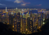 Hong Kong vista from the Peak 11098080784| 写真素材・ストックフォト・画像・イラスト素材|アマナイメージズ