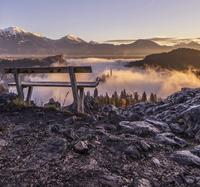 Lake Bled and it's beautiful sunrises 11098080794| 写真素材・ストックフォト・画像・イラスト素材|アマナイメージズ