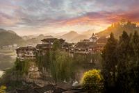 Furong village 11098081096| 写真素材・ストックフォト・画像・イラスト素材|アマナイメージズ