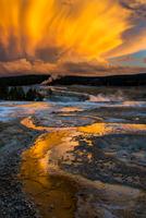 geysers at sunset 11098081333| 写真素材・ストックフォト・画像・イラスト素材|アマナイメージズ