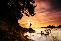 The Sunset Man 11098081390| 写真素材・ストックフォト・画像・イラスト素材|アマナイメージズ