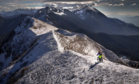 Winter ridge line