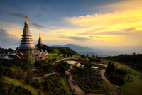 The Great Holy Relics Pagoda Nabhapolbhumisiri 11098082389| 写真素材・ストックフォト・画像・イラスト素材|アマナイメージズ
