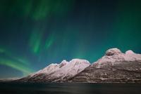 Lyngen aurora III 11098082561| 写真素材・ストックフォト・画像・イラスト素材|アマナイメージズ