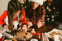 Mother and Daughter Baking Cookies 11098082708| 写真素材・ストックフォト・画像・イラスト素材|アマナイメージズ