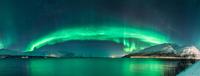 Norway Northern Light Panorama 11098083114| 写真素材・ストックフォト・画像・イラスト素材|アマナイメージズ