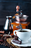 Chocolate candy with cup of coffee 11098083266| 写真素材・ストックフォト・画像・イラスト素材|アマナイメージズ