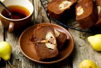 The pear  cake with  chocolate 11098083274| 写真素材・ストックフォト・画像・イラスト素材|アマナイメージズ
