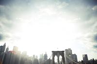 Brooklyn Bridge and Manhattan 11100000432| 写真素材・ストックフォト・画像・イラスト素材|アマナイメージズ