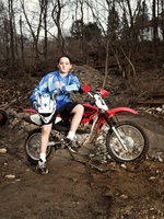 Portrait of Young Motocross Racer (12-13 )
