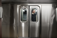 Businessman on subway