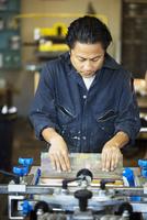 Man working in printing workshop