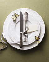 Formal Table Setting with Butterflies 11100019465| 写真素材・ストックフォト・画像・イラスト素材|アマナイメージズ