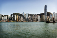 Hong Kong Skyline from bay