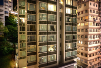Apartment Windows In Downtown Hong Kong