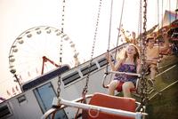 Teenagers (14-15, 16-17) in amusement park