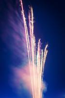 USA, Washington State, Seattle, Firework display at night