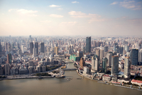 China, Shanghai, Aerial view of city
