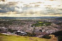 Scotland, Edinburgh, Elevated view of cityscape