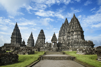 Indonesia, Yogyakarta, Prambanan Temple, Exterior of Prambanan Temple against sky