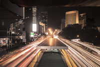 Indonesia, Traffic in city at night