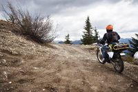 Man riding motocross in Gifford Pinchot National Forest