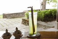 Fresh lemonade served on table at Moyo Island