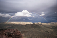 Rainbow over Red Rock Canyon National Conservation Area