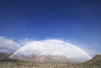 Double rainbow over Red Rock Canyon National Conservation Area