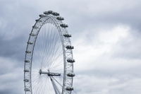 Low angle view of Millennium Wheel against sky