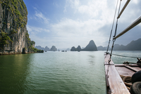 Cropped image of boat at Halong Bay