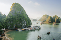 Scenic view of Halong Bay against sky
