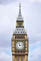 High section of Big Ben against cloudy sky