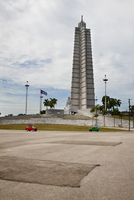 Low angle view of Jose Marti Memorial against sky