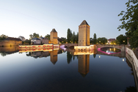 Ponts couverts against sky during sunset