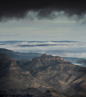 Scenic view of Grand Canyon against cloudy sky