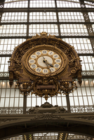 Low angle view of ornate clock at Musee d'Orsay