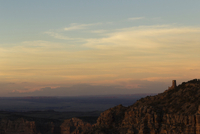 Scenic view of rock formations at Grand Canyon National Park during sunset