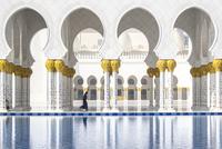 Reflecting pool at Sheikh Zayed Mosque 11100049961| 写真素材・ストックフォト・画像・イラスト素材|アマナイメージズ